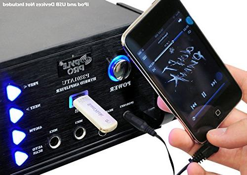 4-Channel Home Power Stereo Receiver AM FM Radio, Headphone, Great for Home Entertainment Pyle