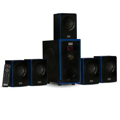 Acoustic Audio 5.1 Bluetooth 6 Speaker System Home Theater S