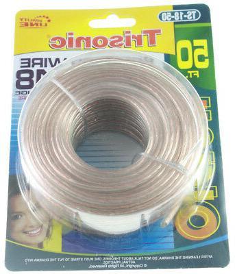 50 ft 18 gauge awg speaker wire