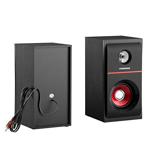 Durherm 2.1 Channel Glass Equalizer USB MP3 Inputs Home Speaker System with