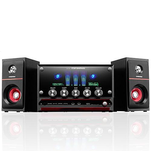 Durherm DR-S30 Glass LED USB SD MP3 Inputs Woofer Speaker Remote