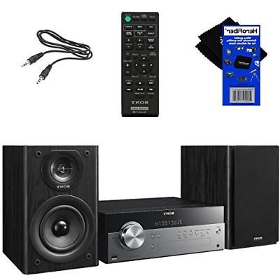Sony Stylish Music System with Wireless Streaming NFC , CD Tuner + Remote + Aux Cable + Cleaning Cloth