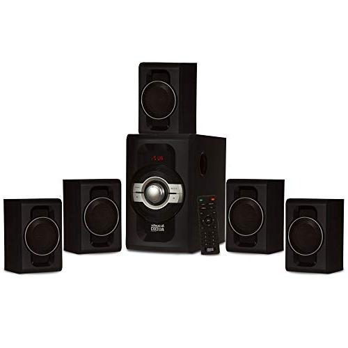 Acoustic Audio Home Theater 5.1 Bluetooth Speaker System with USB SD