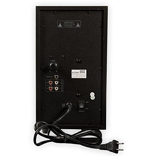 Acoustic Audio AA2170 2.1 Speaker System Tuner Computer Multimedia