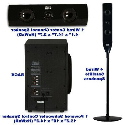 Acoustic Tower 5.1 with Powered Subwoofer