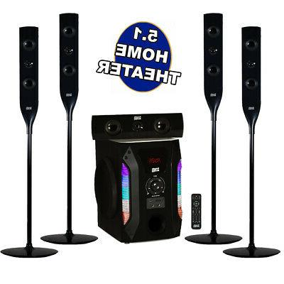 acoustic audio bluetooth tower 5 1 home