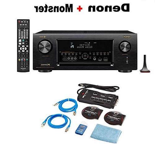 Denon AVR-X4400H 9 2 Channel AV Receiver with Wi-Fi,