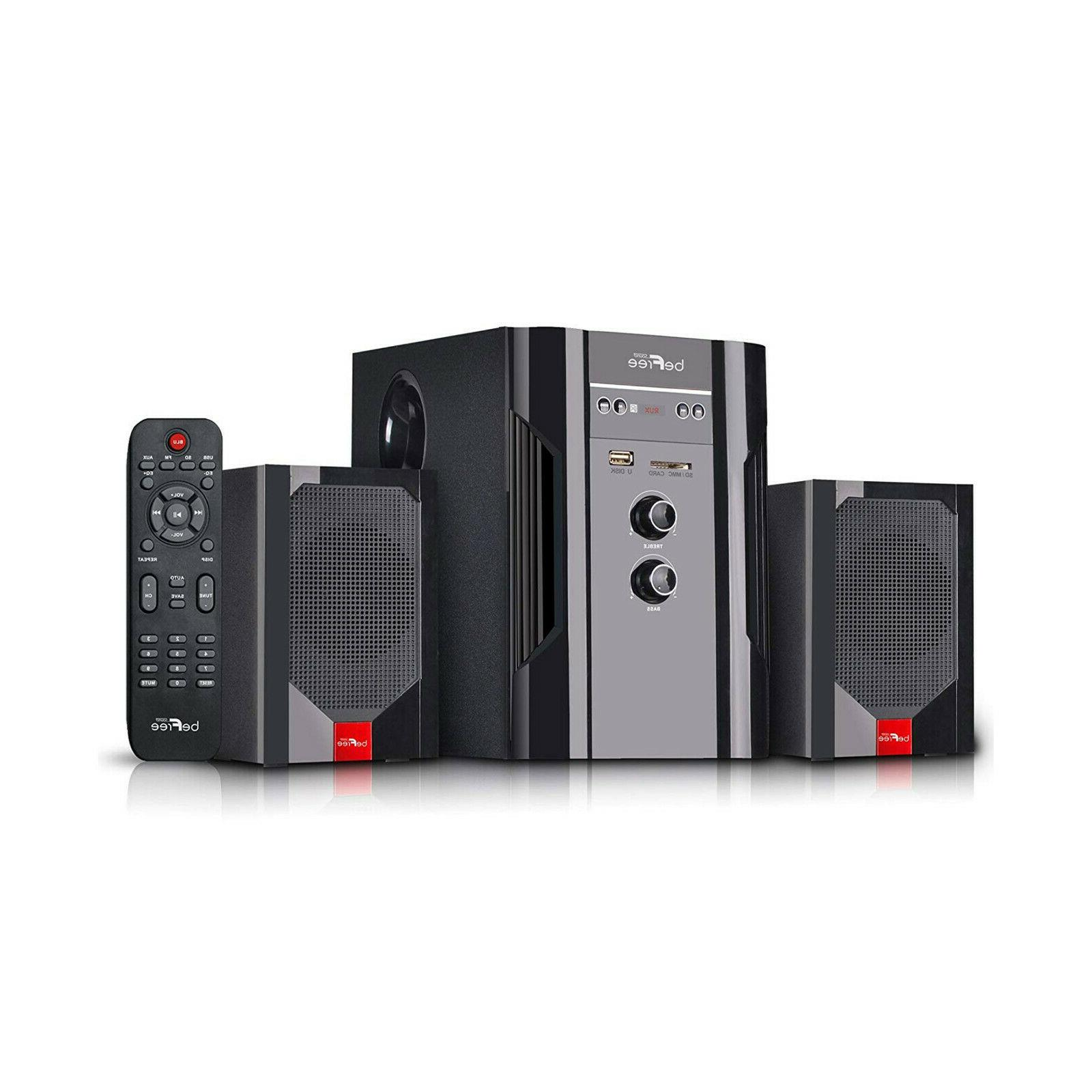 BEFREE 2.1 CHANNEL HOME THEATER SOUND SPEAKER SYSTEM BLUETOO