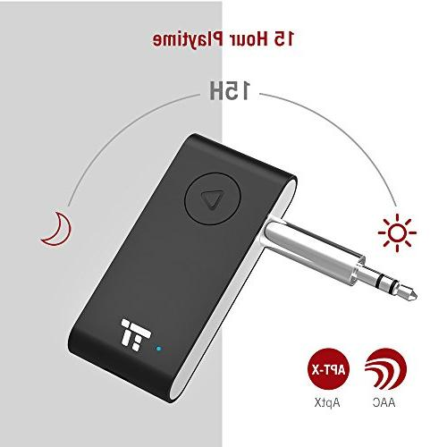 TaoTronics Bluetooth APTX Stereo Receiver, 15 Hands-Free Bluetooth Car Auto Once to