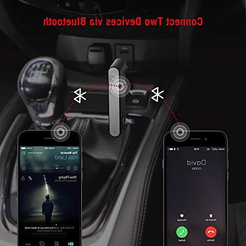 TaoTronics Bluetooth AUX APTX 15 Bluetooth Car Audio Bluetooth 4.2 Car Auto Once to