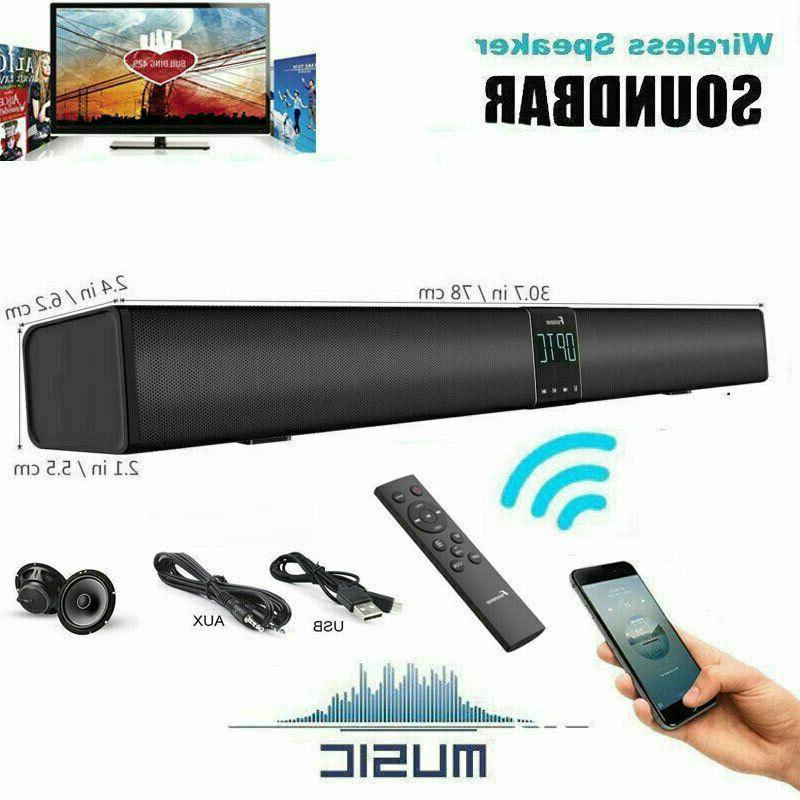 Bluetooth Sound Bar Speaker System TV Home Theater Wireless