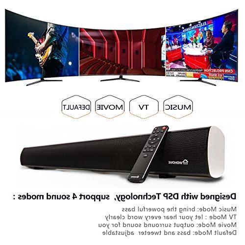 2.1 Channel Bluetooth Bar, TV Soundbar with Built-in