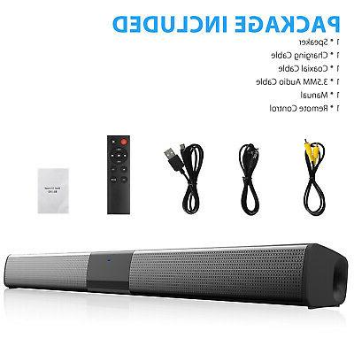Bluetooth Soundbar TV Speaker Wireless Subwoofer
