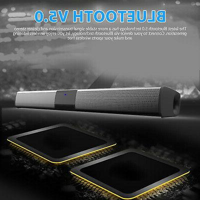 Bluetooth Soundbar TV Speaker 3D Surround Sound