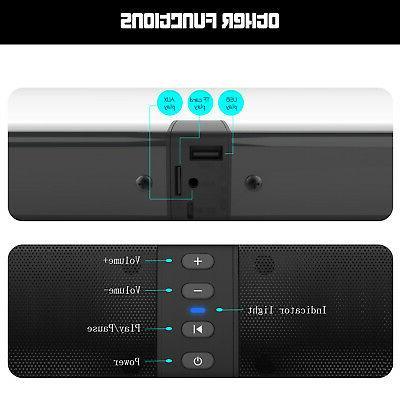 Bluetooth Soundbar Home Speaker Wireless 3D