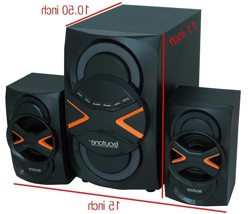 boytone 2.1 System - RMS Wireless Speaker - 40 20 kHz - - Bluetooth - - FM Radio, MP3 Player