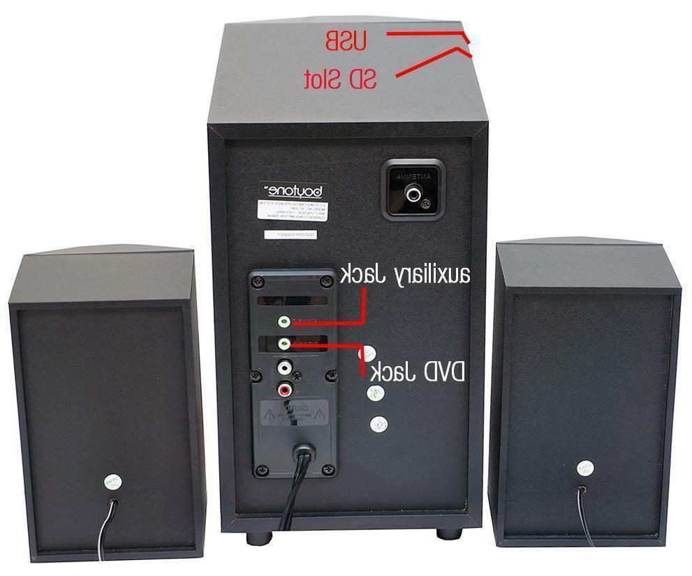 boytone BT-326F System - 60 W RMS - Speaker - 40 20 - - - Radio, Remote, MP3 Player Compatible