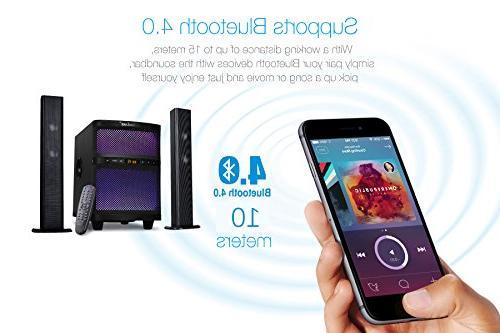 LuguLake Soundbar, TV Sound bar with Subwoofer, Composable Floor Speaker, Lights, FM Reader, Control