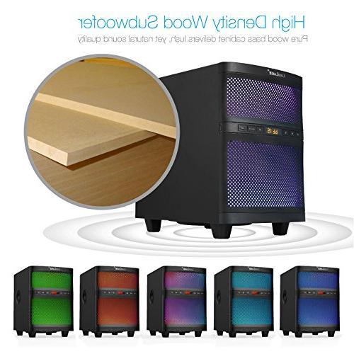 LuguLake Soundbar, TV bar with Floor Speaker, Adjustable Lights, Reader,