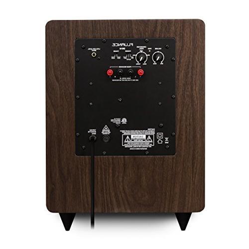 Fluance Surround Sound Home 5.1 Channel Speaker System Three-Way Floorstanding, Rear Speakers a DB10 Walnut