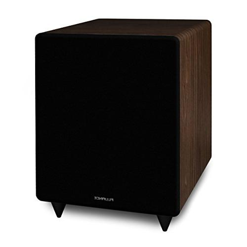 Fluance Series Sound Theater Channel Speaker including Three-way Channel, Rear Surround Speakers and a Walnut