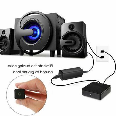 Ground Loop Noise Eliminate Car Home Aux Audio Stereo Y6U3