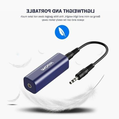 MPOW Ground Loop Noise Isolator for Audio & Stereo W/ 3.5mm Blue