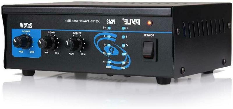 Home Audio Power Amplifier System - 2X75W Mini Dual Channel