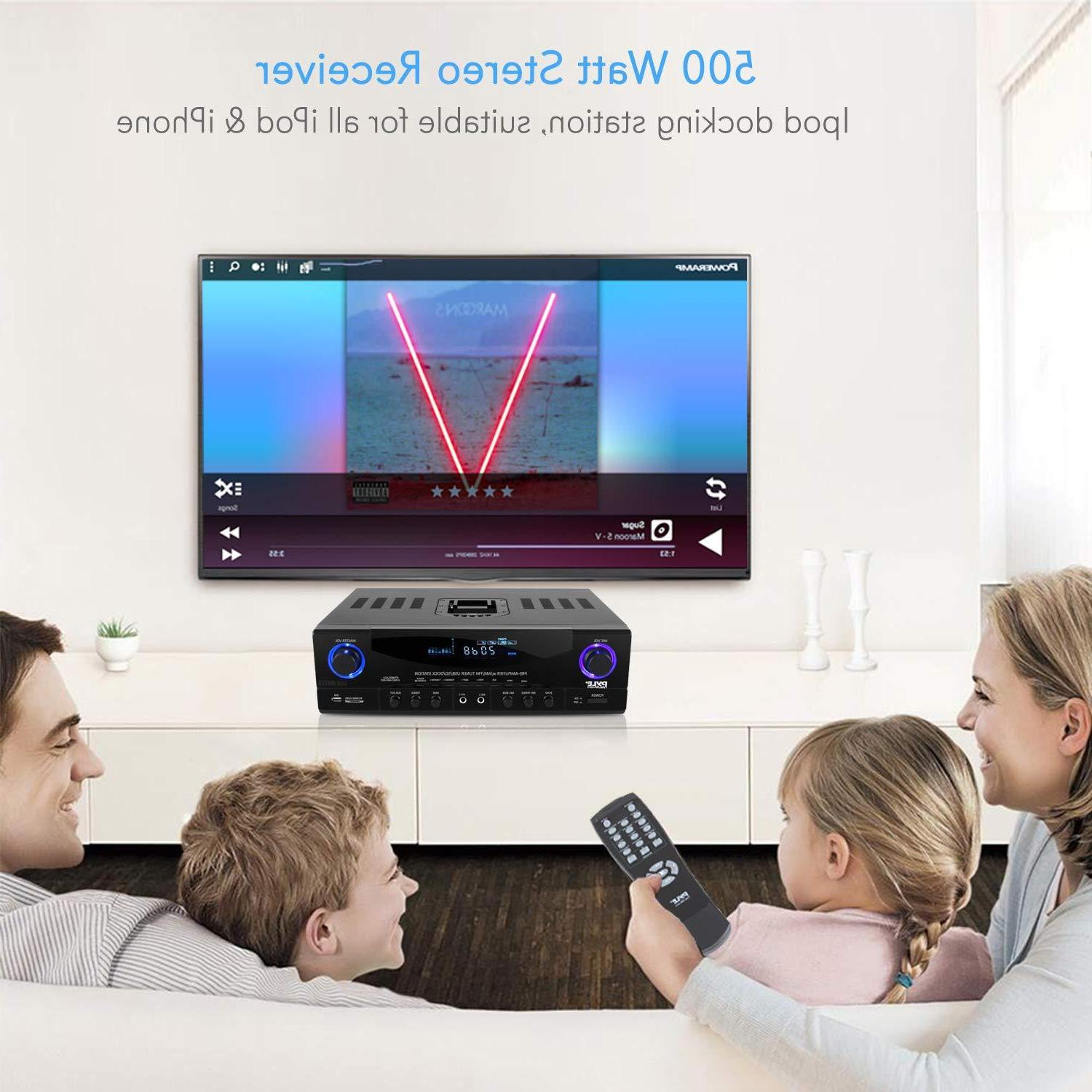 Home Amplifier System - 500W Channel Theater Power Sound