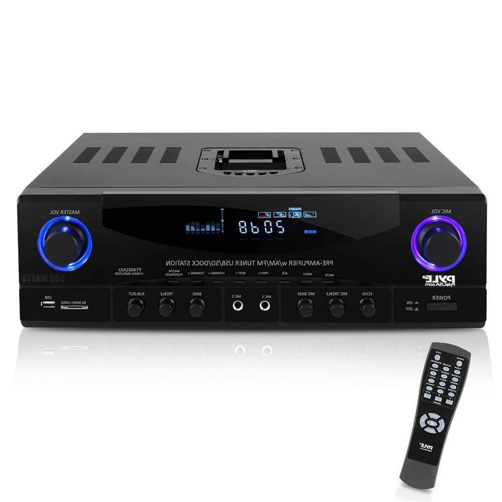 home audio power amplifier system 500w 4
