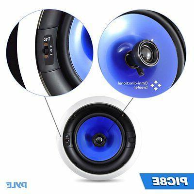 Pyle Home Watt 8-Inch In-Ceiling Speaker System+New..
