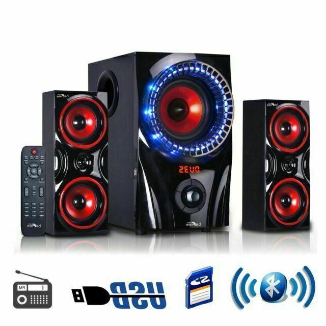 multimedia shelf bluetooth speaker system
