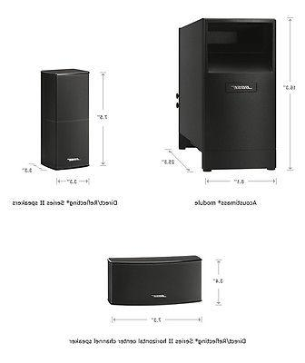 NEW SERIES HOME SPEAKER SYSTEM BLACK 5 five
