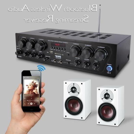 Pyle Bluetooth Audio Amplifier, 6-Ch. Source System