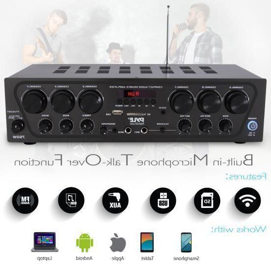 Pyle PTA62BT Bluetooth Audio 6-Ch. Source