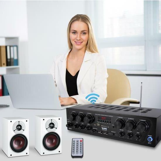 Pyle Bluetooth Audio Amplifier, 6-Ch. Source Stereo System
