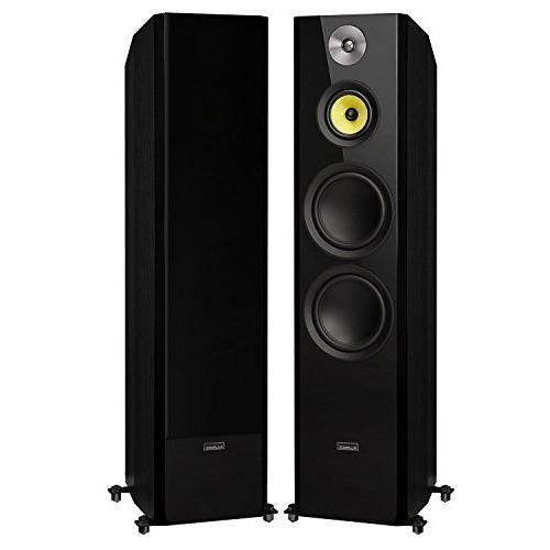 Fluance Signature Series Sound Theater Channel Speaker System Including Three-Way Surrounds & DB12 Subwoofer Ash