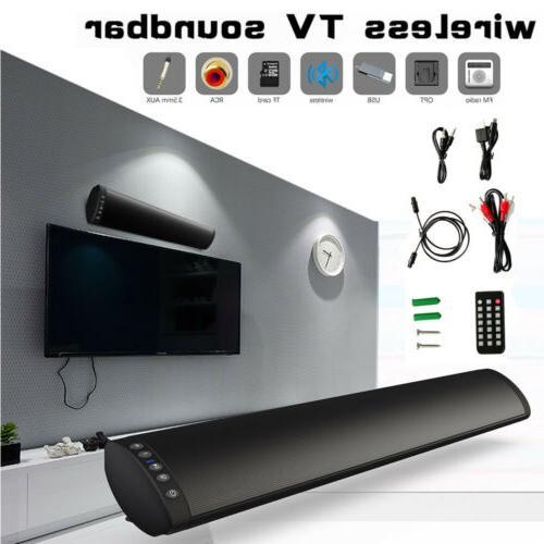 Sound Bar TV System Bluetooth Speaker Subwoofer Home