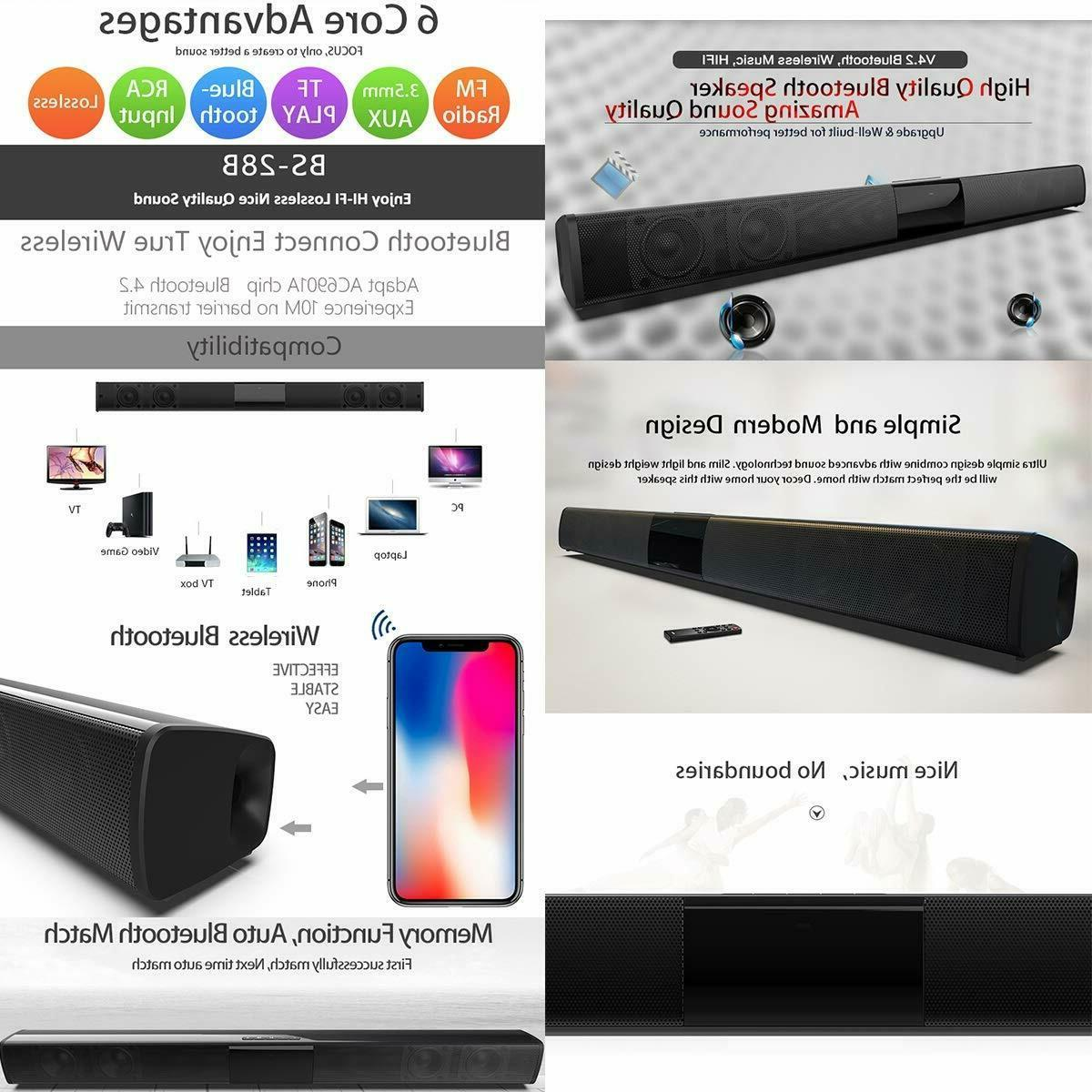 Surround Sound Bar Speaker Subwoofer Home Theater&Remote