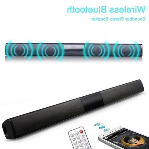 Sound Bar System Bluetooth Wireless Subwoofer Bass