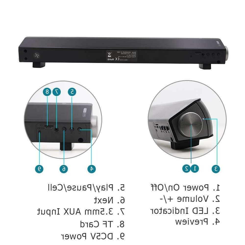 TV Home Bluetooth System w/Built-in Subwoofer