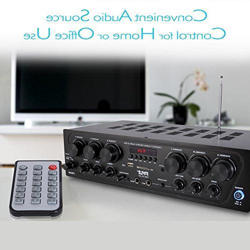 Upgraded Wireless Karaoke - 6 750 Audio Amplifier w/ 2 Input Echo, Talkover for - Pyle