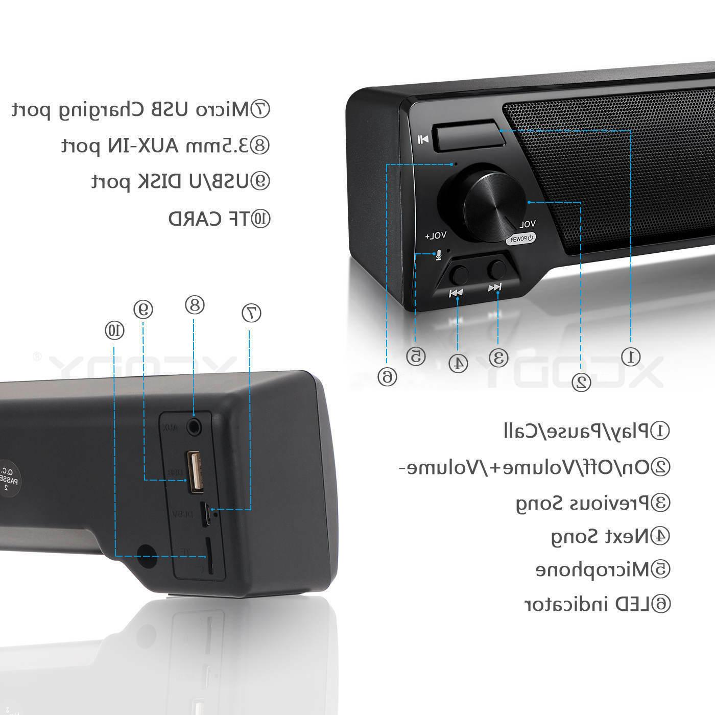 Wireless Bluetooth Speaker System TV Theater Soundbar Subwoofer