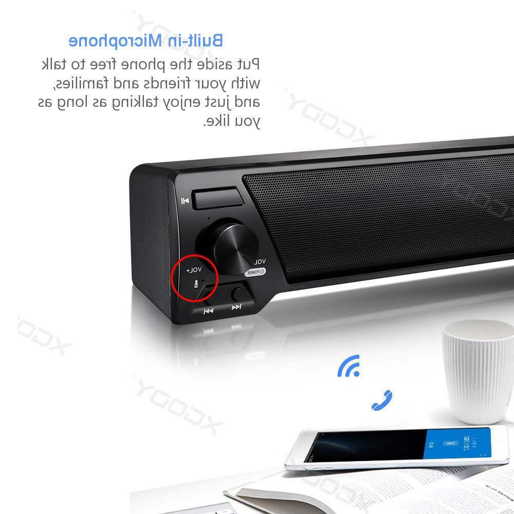 Wireless Bluetooth Sound Speaker TV Home Theater Soundbar Subwoofer