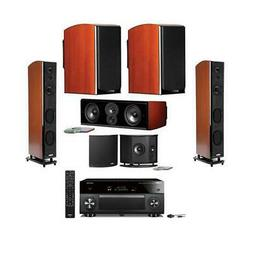 Polk Audio LSiM705 Tower Speaker Home Theater System w/Yamah
