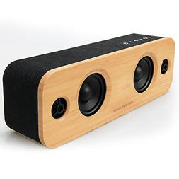 AOMAIS LIFE 30W Bluetooth Speakers, Loud Bamboo Wood Home Au