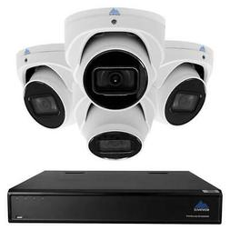 Montavue Home Security System 8 Channel 4K NVR, 4 2K Audio T