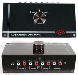 NEW 3 RCA Input Source Audio Selector.Stereo Switch Inputs.c