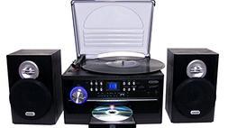 Jensen All-In-One Hi-Fi Stereo CD Player Turntable & Digital
