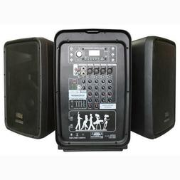 Karaoke PA Speaker Mixer System - 600 WATT 8-Channel Portabl